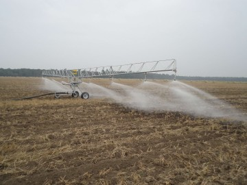 22m boom with splash plate nozzles